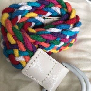 Gap kids braided multicolored belt size s/m 66in